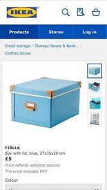 2 ikea dug egg blue storage boxes