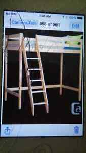 Loft bed & mattress - never used