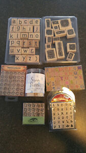 Scrapbook Stamps - barely used