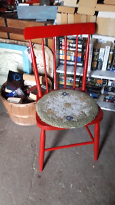 Up-cycle Red Painted Vintage Chair