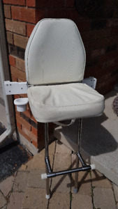 White helm chair for boat