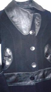 Magnifique Manteau Rudsak en laine et en cuir (petit)