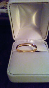 Solid 10kt gold band