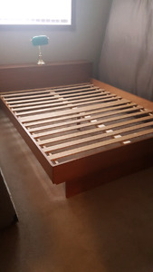 Queen size bed frame.