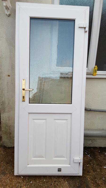 Pvc Windows And Doors Lebanon : White pvc back door in southsea hampshire gumtree