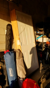 Insulated 6 panel entry door with pvc jamb, never used