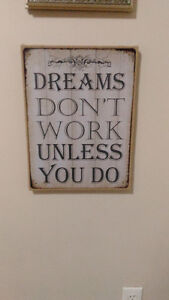 Motivational wall decor. Rustic/Country feel.