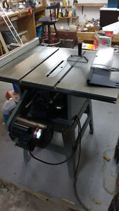 Kings table saw 220 volt 48 by 24 deck on
