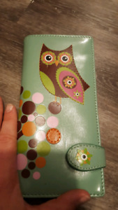 Owl leather wallet