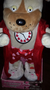 """Dancing  dog  singing """" baby I need your loving"""" great for anniv"""