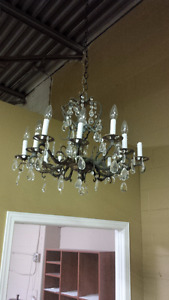 ANTIQUE CRYSTAL PINEAPPLE CHANDELIER