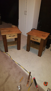 Solid Rustic Wood Night Tables