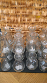 12 x minature decorative bottles. Great for weddings