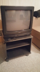"""20"""" Colour TV with remote and TV Stand"""
