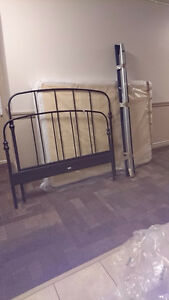 Double sized, metal bed frame