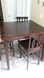 Brown Square Kitchen Table For Sale