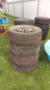2 sets of tires on rims 205/55R16