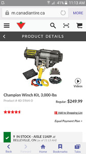 "3000 lb champion winch ""Brand New""still in box"