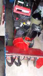 33 inch snowblower with push button start