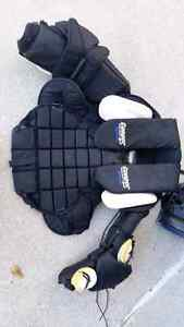 Goalie pads, chest and arms, and padded jersey for sale Windsor Region Ontario image 2