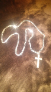 Stainless steel chain and cross