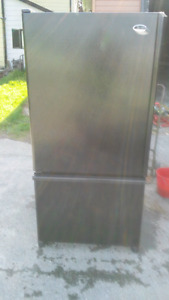 BLACK GE BOTTOM FREEZER FRIDGE ( SOLD)