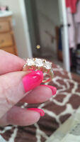 """REDUCED Beautiful Ring, """"Past Present & Future"""" 14K"""