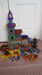 Fisher Pric Imaginext Wizard Tower 78331 /Goblin's Dungeon 78357