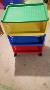Colourful Rubbermaid Storage Cart