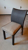 6 x Patio Chairs with Cushions AND FREE UMBRELLA!