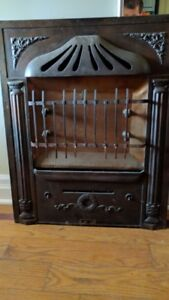 Antique Metal Electric Fireplace Insert