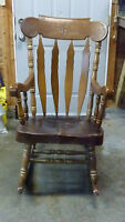 Large Wooden Rocking Chair.