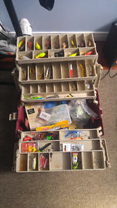 Fishing lures and tackle box