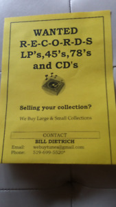 VINYL RECORDS W-A-N-T-E-D! We buy large and small collections