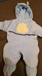 3-6 month blue snow suit.
