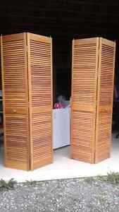 Two louvred doors!  15.00 each or 25.00 for both