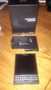 Blackberry passport with case, belt clip and box