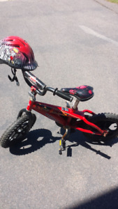 Boys 12' bike with helmet