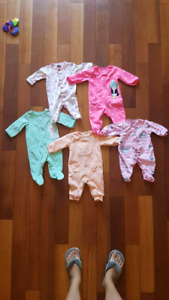 3 Month baby Girl Sleepers