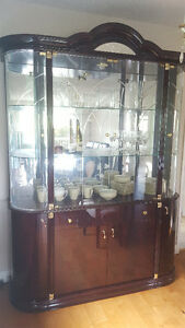 Dining table, chairs and china cabinet