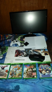 """Xbox 1s with a acer 24"""" acer lcd monitor"""