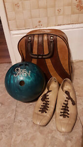 10 Pin Bowling Ball, Shoes + Bag, Only $ 30 for all