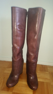 5.5 Tall high heel (Leather/Suede) Nine West boots