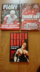 Sports Books/Biographies (NHL hockey, WWF/WWE wrestling)