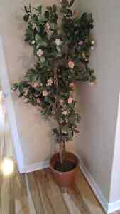 Cheerful tall artificial plant