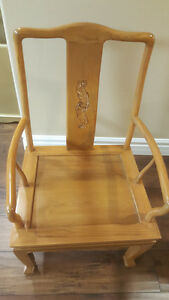 An old wooden antique Chinese chair