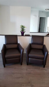 2 Nice Leather Recliners