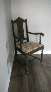Antique chair, is solid wood. Excellent shape.