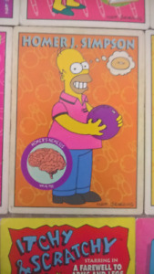 THE SIMPSONS SKYBOX CONGO CARDS BASE SET (34)