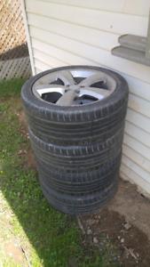 Original BMW tires (Summer) and rims